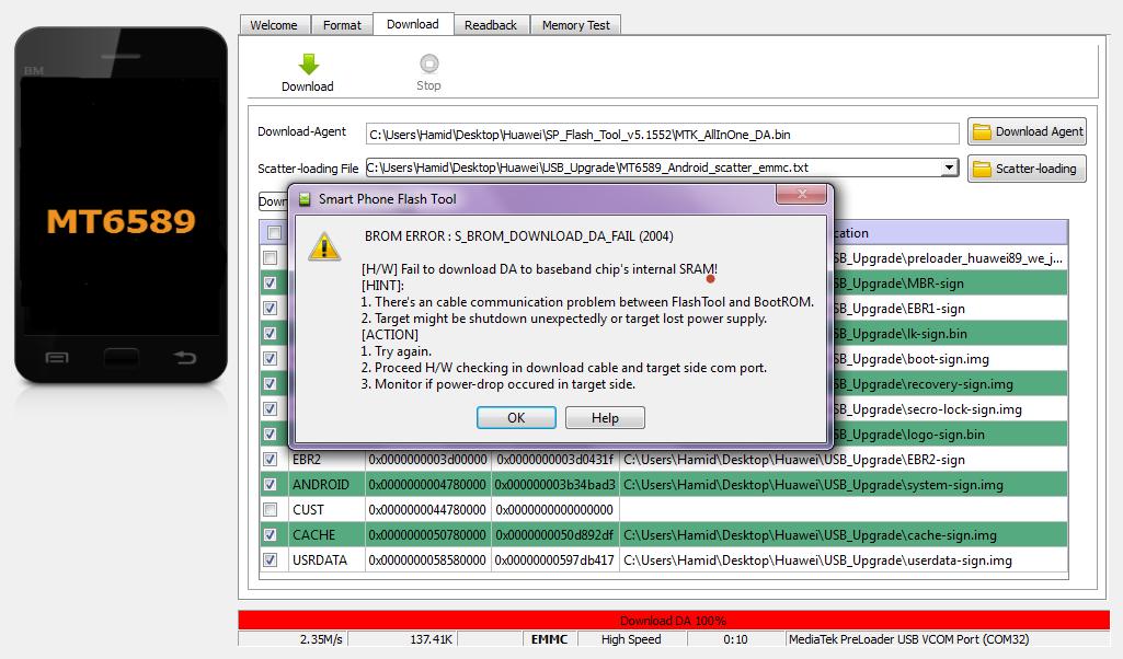 اموزش حل تمامی ارور های sp flash tools مخصوص cpu mtk - آموزش های نرم