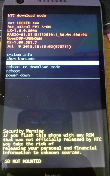 مشکل با آنلاک شبکه HTC Desire 626s - سوالات نرم افزاری - جی اس ام